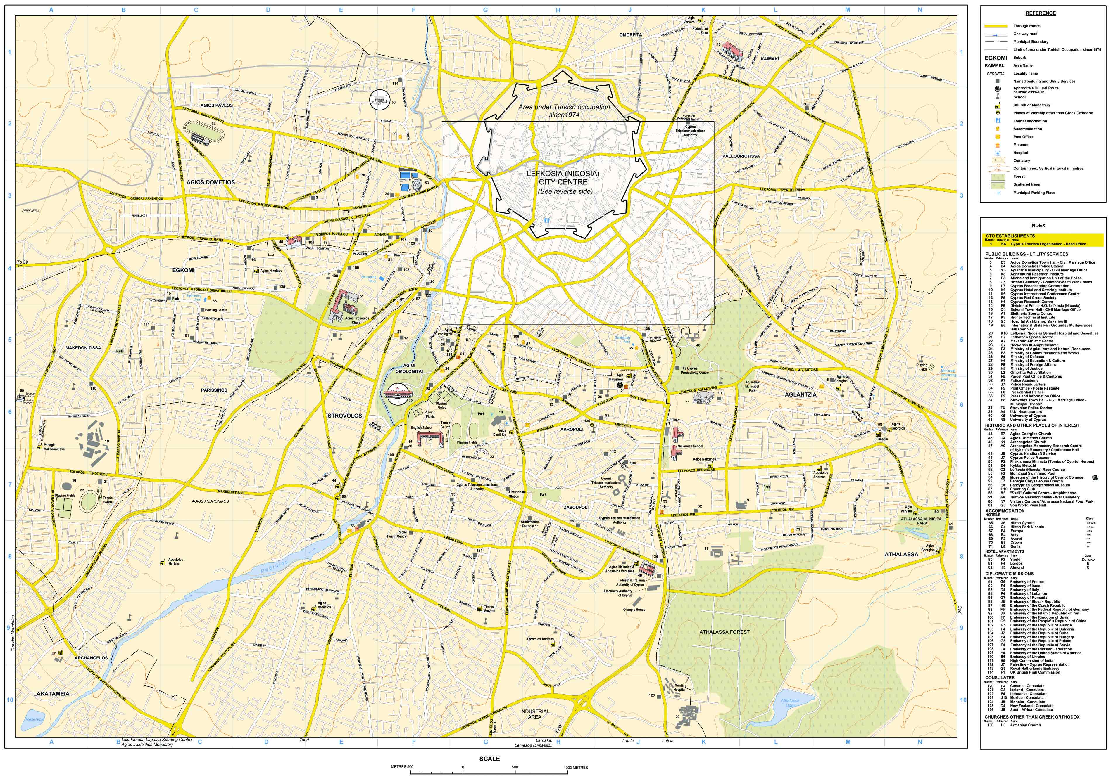 map of nicosia